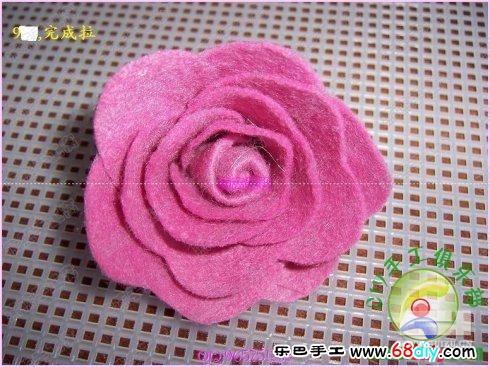 粘土玫瑰花制作教程展示